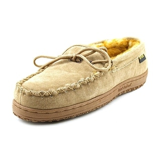Old Friend Loafer Moccasin Men W Round Toe Leather Brown Slipper