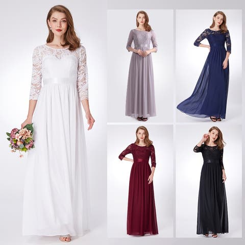 b5180f761f7a0a Ever-Pretty Women s Elegant Lace Evening Bridesmaid Party Maxi Dresses 07412