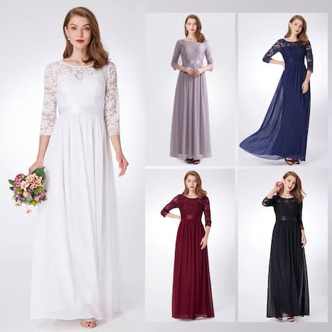 eb51949c97a2 Ever-Pretty Womens Elegant Lace Formal Evening Gown Mother of the Bride  Dress 07412