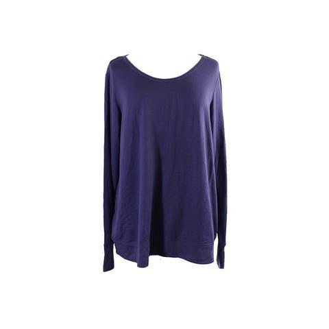 Ideology Plus Size Purple Open-Back Top 3X