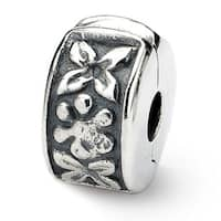 Sterling Silver Reflections Hinged Floral Clip Bead (4mm Diameter Hole)
