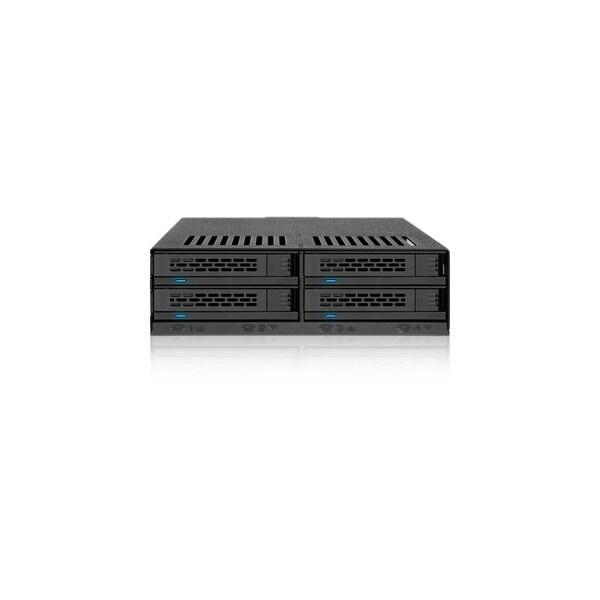 "Icy Dock MB324SP-B Icy Dock ExpressCage MB324SP-B Drive Enclosure Internal - Black - 4 x Total Bay - 4 x 2.5"" Bay - Serial"
