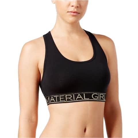 Material Girl Womens Glittery Racerback Bra