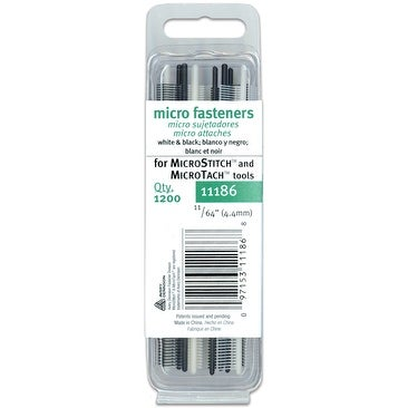 Micro Stitch Fastener Refills 4.4mm-White & Black 1,200/Pkg