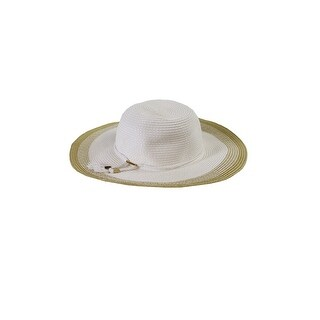 Collection Xiix White Beige Contrast Edge Floppy Hat OS
