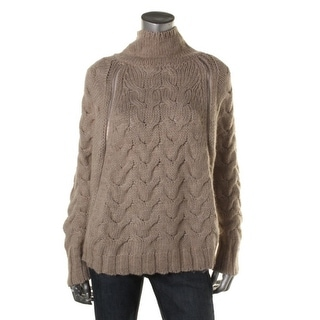 Free People Womens Cape Sweater Wool Blend Cable Knit - S