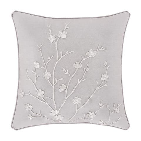 Five Queens Court Cherie 20 Inch Square Decorative Throw Pillow