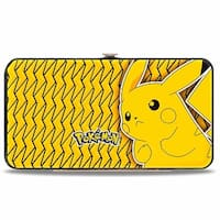Pokmon Pikachu Pose Yellow Black Hinged Wallet - One Size Fits most