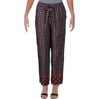 Lauren Ralph Lauren Womens Ogin Skinny Pants Crepe Printed