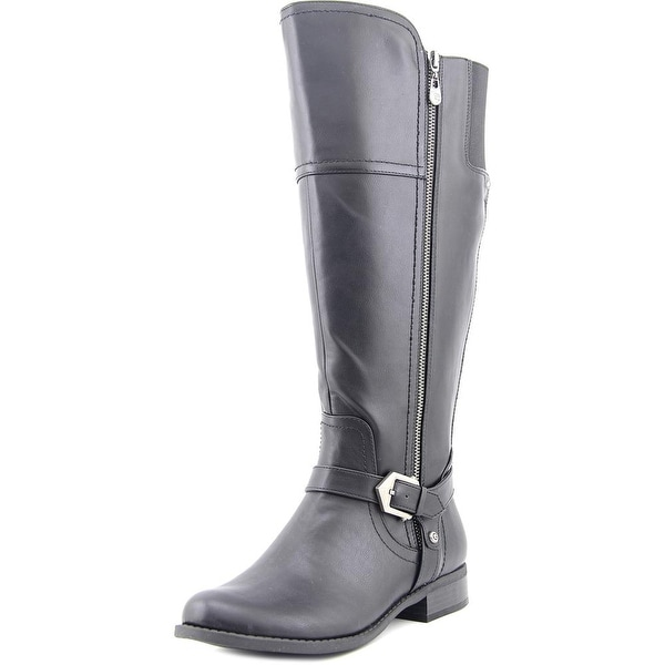 G By Guess Hailee Wide Calf Women Round Toe Synthetic Black Knee High Boot