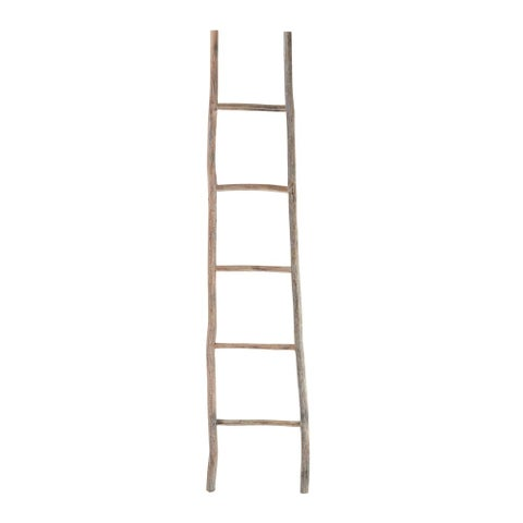 Dimond Home 594039 70 Inch Tall White Washed Wood Ladder - light wood - N/A