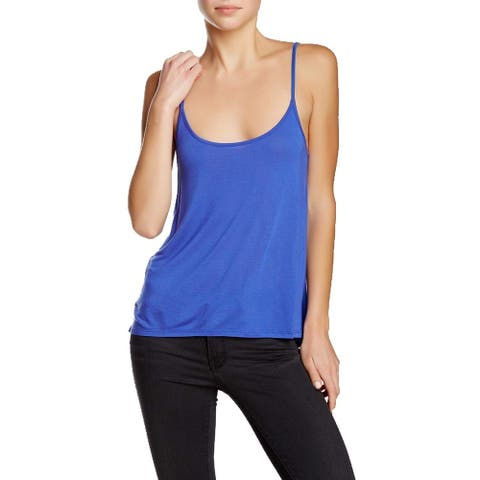Haute Hippie Royal Blue Womens Size Small S Scoop Neck Cami Top