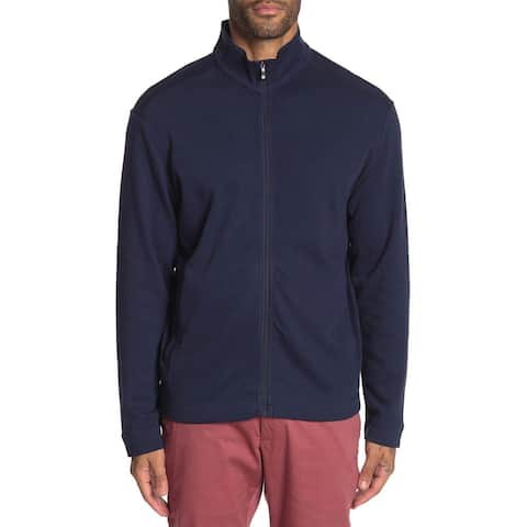 Tommy Bahama Mens Ravello Jersey Zip Front Jacket Small Ocean Deep