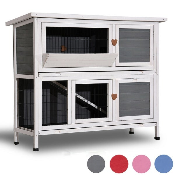 "Lovupet 40"" Sturdy Wooden Chicken Coop Rabbit Hutch Small Animal House Pet Cage 0323L. Opens flyout."