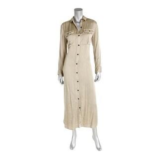 Denim & Supply Ralph Lauren Womens Shirtdress Satin Military - xs