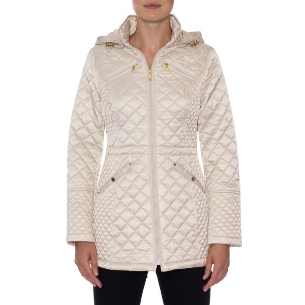 Shop Laundry By Design Hooded Quilted Jacket Free Shipping Today
