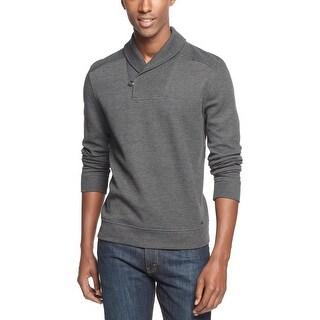 INC International Concepts Shawl Collar Sweater XXL 2XL Charcoal Heather