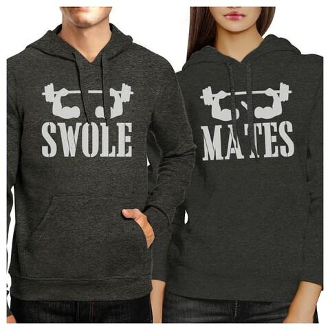 Swole Mates Cool Grey Matching Hoodies Pullover Hooded Sweatshirts