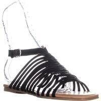 Lucky Brand Cabette Ankle Strap Sandals, Black