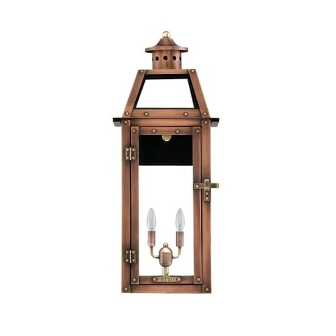 """Primo Lanterns BV-20E Bienville 8 3/4"""" Wide 2 Light Outdoor Wall-Mounted Lantern in Electric Configuration"""