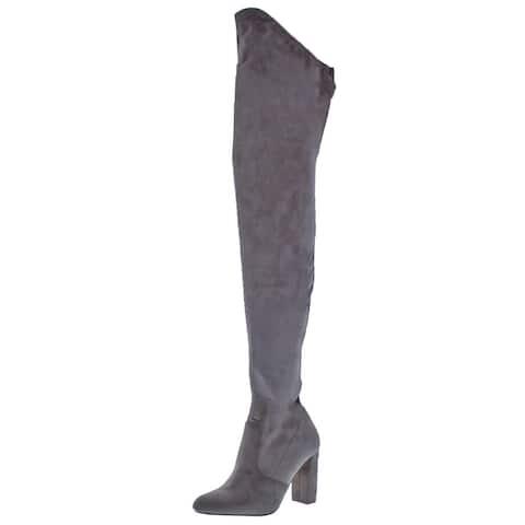 Steve Madden Womens Elektric Thigh-High Boots Faux Suede Tall