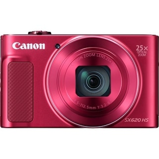 "Canon PowerShot SX620 HS 20.2 Megapixel Compact Camera - Red - 3"" (Refurbished)"