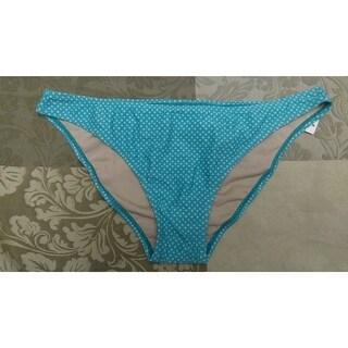 Gap Ruche Back Bikini Hipster Swim Swimsuit Bottom *M Aqua Tropic