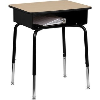 Offex Student Desk with Open Front Metal Book Box [OF-FD-DESK-GG]