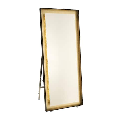 "Artcraft Lighting AM314 Reflections 67"" X 27-1/2"" Rectangular Flat Metal Framed Floor Mirror with LED Lighting"
