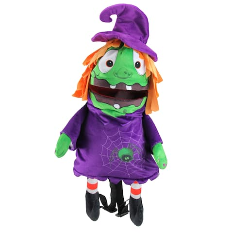 """23"""" Musical Animated Witch Children's Halloween Trick or Treat Bag - One Size"""