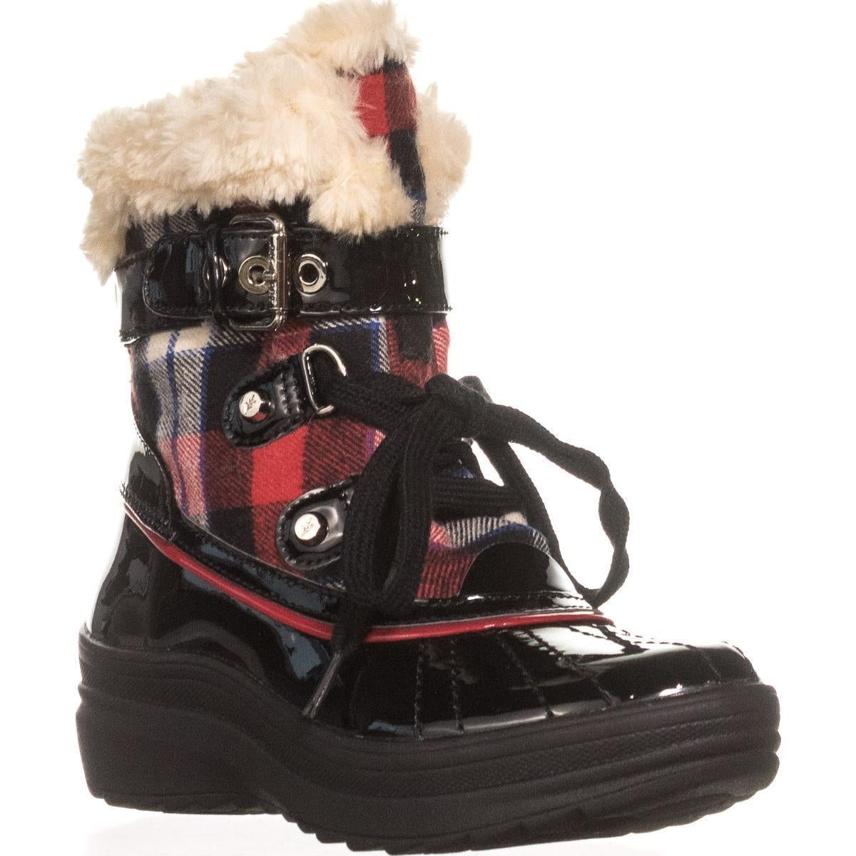 buying cheap quality products arriving Shop Anne Klein Gallup Snow Boots, Red Multi - On Sale - Free ...
