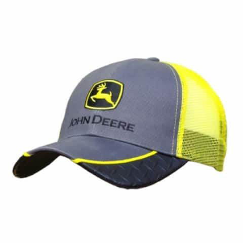 John Deere 13080226YW00 Mens Mesh Back w/ Diamond Plate Cap, One Size, Yellow