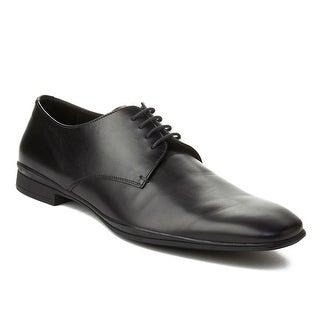 Prada Men's Leather Oxford Dress Shoes Black