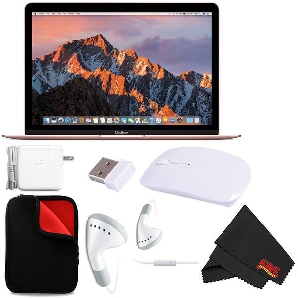 """Apple 12"""" MacBook (Mid 2017 Rose Gold) 256GB SSD (MNYM2LL/A) + MicroFiber Cloth Bundle"""