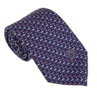 Versace Bluette/Gold Woven Cubic Tie