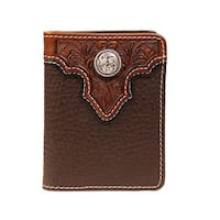 Ariat Western Wallet Mens Bifold Flipcase Leather ID Window - One size