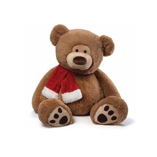 "33"" Jumbo Soft & Silky Plush Tassel Brown Teddy Bear Children's Christmas Stuffed Animal Toy"