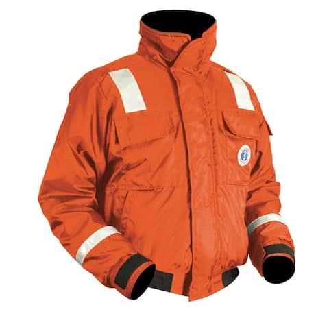 Mustang classic bomber jacket w/solas tape large orange