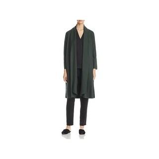 Eileen Fisher Womens Petites Jacket Wool Kimono