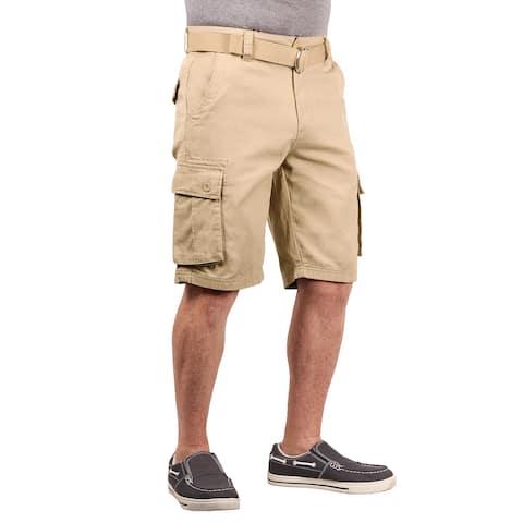 1688 Revolution Men's Belted Twill Cargo Shorts