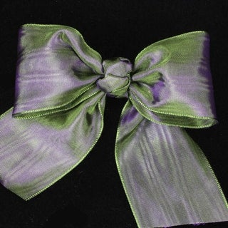 """Forest Plum Deco Moire Satin Craft Ribbon 3"""" x 27 Yards"""