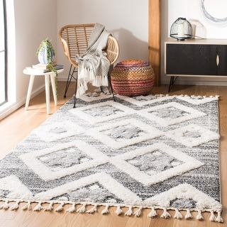 Link to Safavieh Moroccan Tassel Shag Nanke Moroccan Rug Similar Items in Rugs
