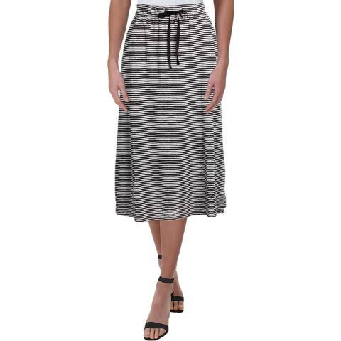 Eileen Fisher Womens Midi Skirt Linen Flared - L