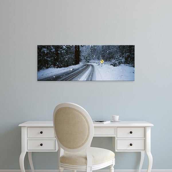 Easy Art Prints Panoramic Images's 'Arrow sign at roadside in forest, Yosemite National Park, California' Canvas Art