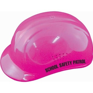 Hi-Viz Safety Patrol Helmet w/ Safety Patrol Label - Pink
