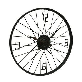 Rustic Retro Bicycle Wheel 28 inch Metal Wall Clock
