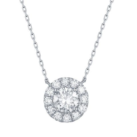 Smiling Rocks Essentials Collection 1.05Ct G-H/VS1 Lab Grown Diamond Necklace