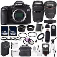 Canon EOS 5DS R DSLR Camera (International Model) 0582C002 + EF 24-105mm f/4L IS USM Lens + EF 75-300 III Bundle