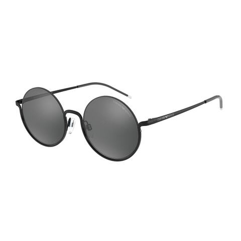 Emporio Armani EA2112 60006G 50 Shiny Black Woman Round Sunglasses
