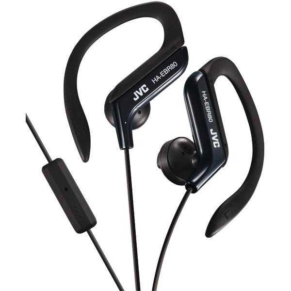 Jvc Haebr80B In-Ear Sports Headphones With Microphone & Remote (Black)